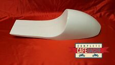 CAFE RACER  COMMANDER WITH CAT EYE TAIL LIGHT FIBREGLASS SEAT WHITE