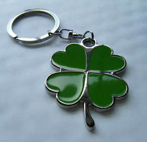 Lucky 4 Leaf Clover Keyring Gift Boxed