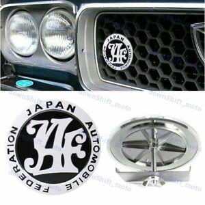 Japan Automobile Federation JDM JAF BLACK Emblem Badge For Toyota Front Grille