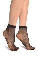 Fishnet Ankle High Socks with Lace Top Sheer Fishnet Pop Socks  (UK SELLER)