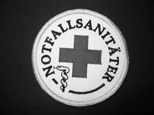 NOTFALLSANITÄTER Rundemblem Emblem Patch AufnäherNEU