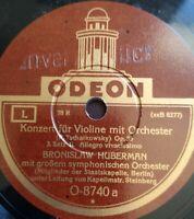 "Bronislaw Huberman ""Konzert f. Violine m. Orch."" ODEON Sample 78rpm12"" 3Records"