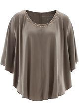 Attraktive Shirt-Tunika mit stilvollen Nieten und Fledermausärmeln Gr.40/42