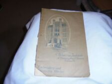 Woman's Institute of Domestic Arts Sciences Embroidery Stitches booklet