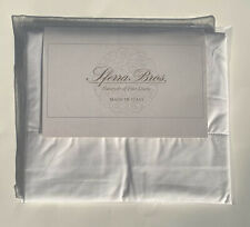 Sferra Percale White King Pillowcases 100% Long Staple Cotton Made In Italy