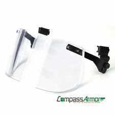 Ballistic Visor detachable for Helmets with Sides-rails NIJ IIIA Full Face Cover