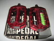 "Sr Custom-M Red Pedals Old School Vintage Bmx 1/2"" haro gt"