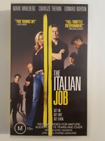 The Italian Job with Mark Wahlberg Charlize Theron Edward Norton VHS VIDEO FILM