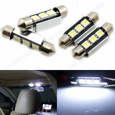 4X 36mm 3SMD 5050 CANBUS Festoon Map/Dome Interior LED License Light Bulbs C5W