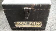 "Vintage Electric Skil Saw 7 1/4"" Builder Line Model 553 With Metal Case"