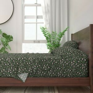 Cheetah Leopard Animal Animal Hide 100% Cotton Sateen Sheet Set by Roostery