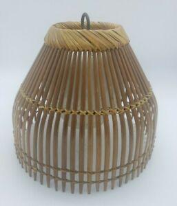 Vintage Wicker Bamboo Ratan Lamp Shade  - Boho