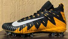 Mens Nike Alpha Menace Elite Pe Football Cleats Size 13 Yellow/Black (Steelers)