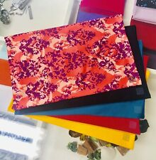 Pack of 5 Fabric BOOK COVERS Stretchable Reusable 9 x 11 Jumbo Made in USA, CA !