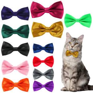 Cat Dickie Bow Tie Adjustable Pre Tied Pet Collar Animal Neck Kitty Feline Nylon