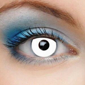 lentilles de couleur annuelles fantaisie halloween ZOMBIE Blanche