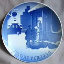 Bing & Grondahl 1940 Christmas Plate - Delivering Christmas Letters B&G