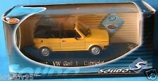 VW VOLKSWAGEN GOLF 1 I CABRIOLET 1974 SOLIDO # 1850 1/43 ROADSTER YELLOW GELB