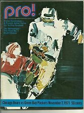1971 CHICAGO BEARS vs GREEN BAY PACKERS Pro! Program