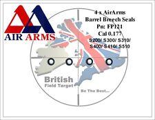 4 x AirArms FP121 Barrel Breech Seals Fits S310, S400, S410, TDR & MPR 0.177 Mod