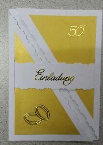 Einladungskarten / Dankkarten goldene Hochzeit (5 Stück)