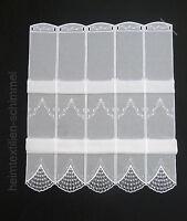 Clip Panneaux Scheibengardine Gardine Scheibenhänger Raffrollo weiß B=0,31-1,28