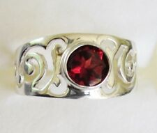 Garnet Ring in 925 Sterling Silver size 6