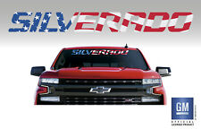 Chevy SILVERADO LTZ LT LS Z71 Trail Boss RST American Flag Windshield Banner