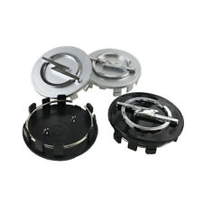 4X 59mm 3D Silver/Black Car Refitting Wheel Center Hub Caps Cover Badge For Opel