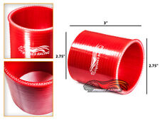 """RED 2.75"""" 70mm 3-ply Silicone Coupler Hose Turbo Intake Intercooler Infin"""