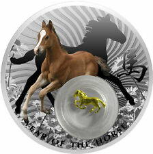 Chinese Calendar Year of the Horse with filigree insert Silver Coin Niue 2014