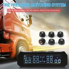 Wireless Solar TPMS Car Tire Tyre Pressure Monitoring System External 6 Sensor
