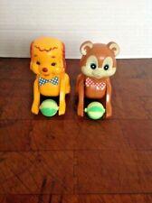 Vintage Hong Kong Plastic Toy Dog Bear Rolling
