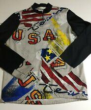 Vintage Greg LeMond Mens Team USA Long Sleeve Cycling Jersey Medium Fit