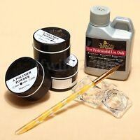 Acrylique Poudre Liquide Ongle Resine Base Pinceau Brosse Manucure Nail Art