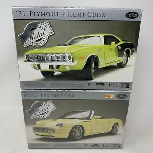 Testors Metal Model Kits 1:24 - Ford Thunderbird & 71 Plymouth Hemi Cuda