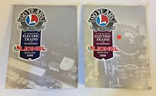 Vintage 1990 Lionel Electric Trains And Accessories Book 1 & Book 2 Lot Toy WOW