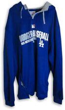 Davey Lopes 2014 Player Worn LA Dodgers Hoodie Fleece Team Issue L EK325499