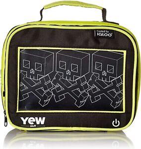 Igloo YEW Stuff - LED Light Up Lunch Box Cooler for Kids - Block Skulls