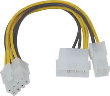 15cm 4 Pin ATX & Molex to 8 Pin Power Adapter Cable LPS TO EPS CONVERTOR ADAPTOR