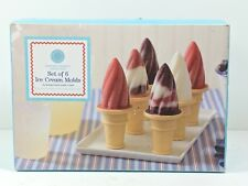Ice Cream Molds Set of 6 Martha Stewart Collection Frozen Treats (wirshf)