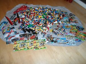 Lego Konvolut 11 KG Technic,Ninjago,Figuren,Eisenbahn,City,Bauanleitungen
