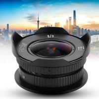 8mm F/3.8 C mount CCTV lens for Micro 4/3 M43 Olympus PEN E-P6 / E-PL7 / E-PL6