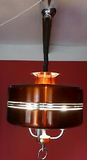 1960s Retro Orange & Chrome American Diner Chandelier Light
