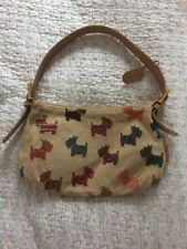 Delightful SMITH&CANOVA Yorkshire Terrier Leather Canvas Handbag VGC