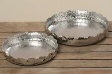 Deko Schalen Tablett Set Angie D20-25cm Aluminium Kerzenteller Dekoration