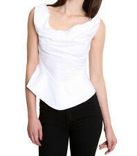 Vivienne Westwood Anglomania Draped White Cotton Blouse Top - IT 40 UK 8