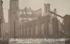 Norwich. Fire at Sexton's Boot Factory 1913. The Interior by I.J.H.