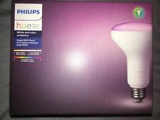 NEW SEALED Philips - Hue White and Color Ambiance BR30 Wi-Fi Smart LED Bulb