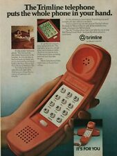 1980 Trimline Telephone Red Corded Phone By Western Electric Vintage Print Ad
